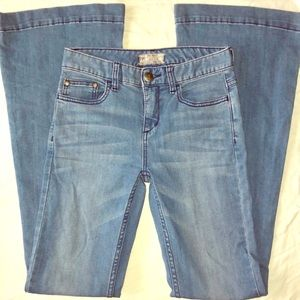 Free People mid rise flare stretch jean